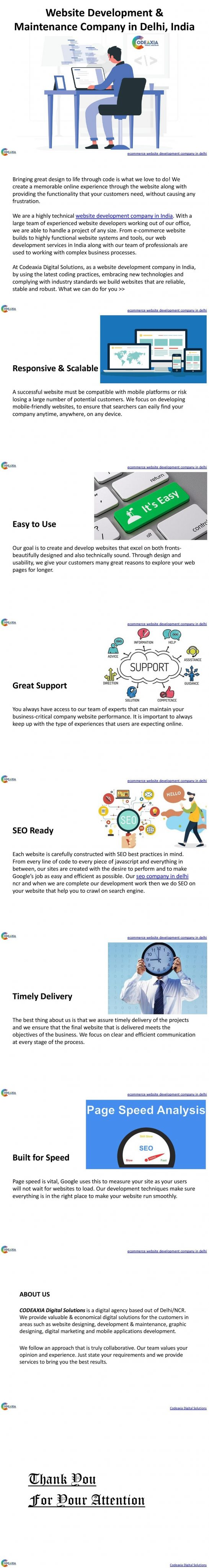 Website Development& Maintenance Company in Delhi, India