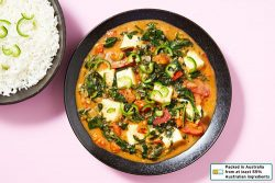 Indian Haloumi and Spinach Curry