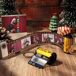 Custom Camera Roll Keyring Personalized Photo Keychain Camera Roll Kodak Keychain Christmas Gifts