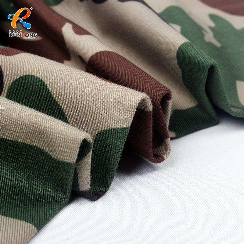 Best quantity TC 80/20 Twill fabric camouflage fabric for desert