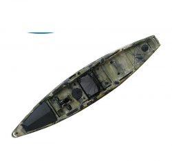 Single person professional foot pedal fishing kayak