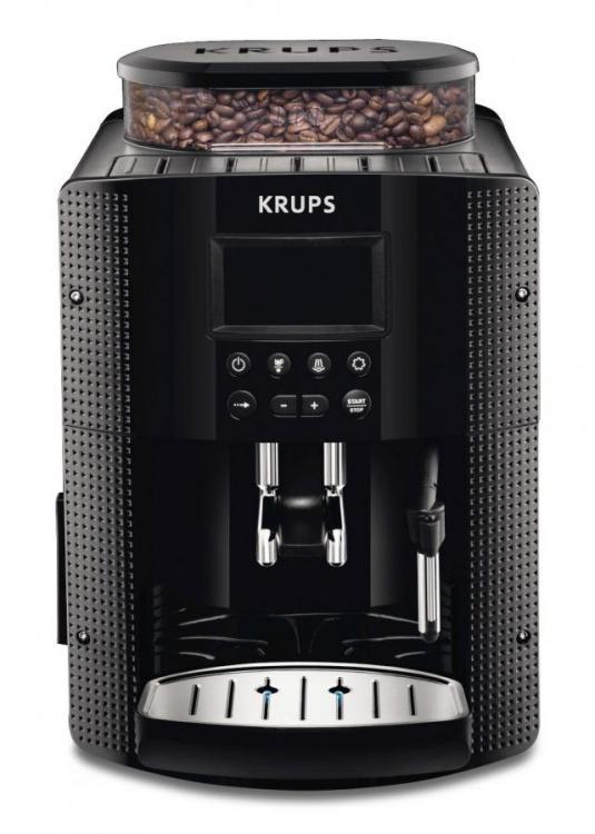 KRUPS FULLY AUTOMATIC COFFEE MACHINE EA815070 (1450 WATT, 1.8 LITRES, 15 BAR, LC DISPLAY, CAPPUC ...