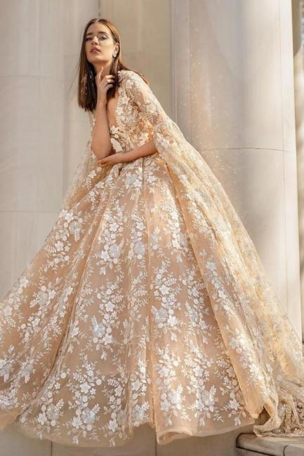 Schone Brautkleider Prinzessin | Spitze Hochzeitskleider mit Ärmel