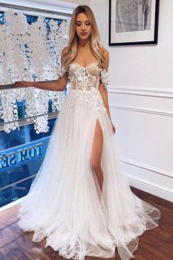 Schlichte Brautkleider Günstig | Hochzeitskleider mit Spitze