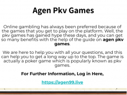 Read Some Important Tips For agen pkv games