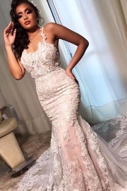 Brautkleider Meerjungfrau Spitze   Wunderschöne Hochzeitskleider Günstig