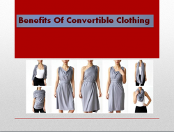 Benefits Of Convertible Clothing
