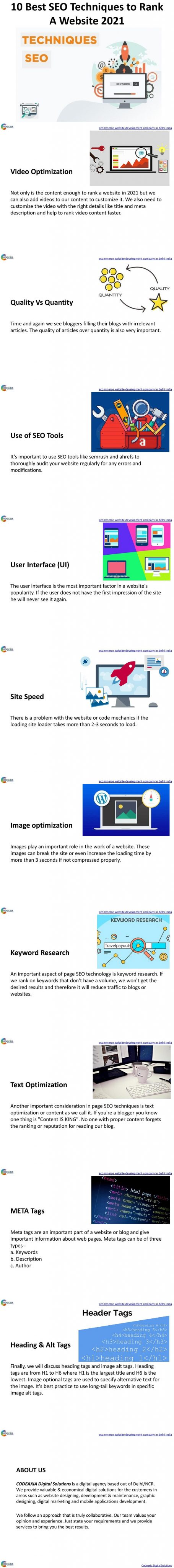 10 Best SEO Techniques to Rank a Website 2021