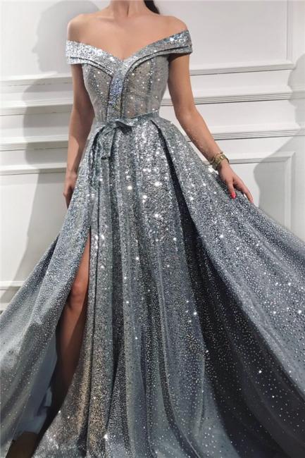 Silber Abendkleider Lang Günstig   Abiballkleider Abendmoden Online
