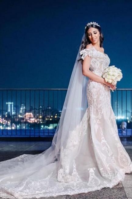 Schöne Bruatkleider Meerjungfrau Spitze | Hochzeitskleider Günstig Online