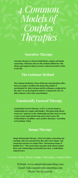 4 Common Models of Couples Therapies – Ammirati Counseling