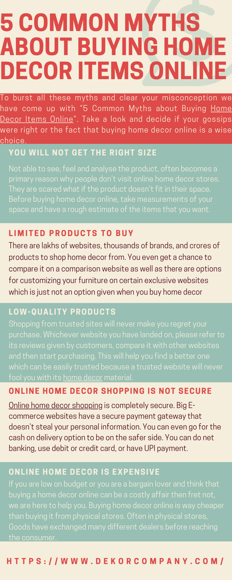 5 Common Myths about Buying Home Decor Items Online