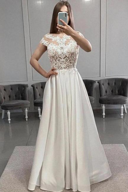 Schöne Abendkleider Lang Weiß   Abendmoden Online