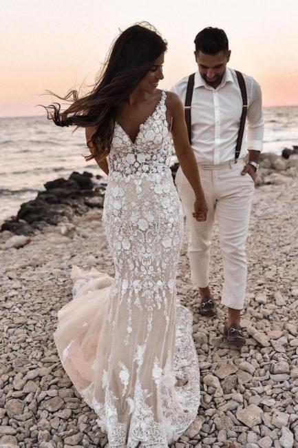 Designer Brautkleider Meerjungfrau | Hochzeitskleider Spitze