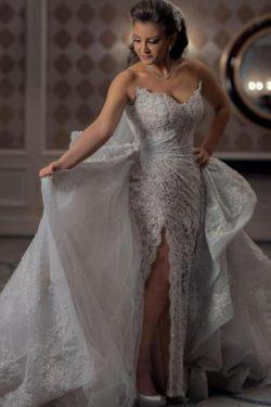 Luxus Brautkleider A Linie Spitze | Wunderschöne Hochzeitskleider Online