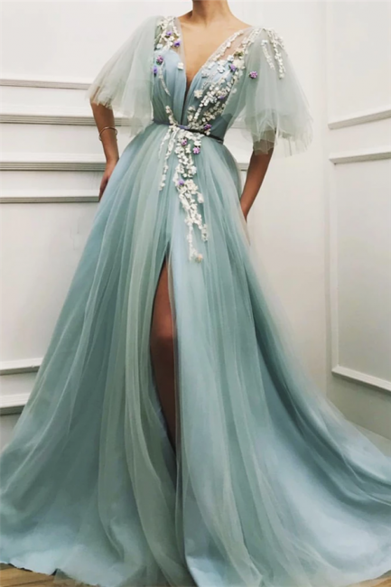 Elegante Abendkleider Lang Grün | Abiballkleider Günstig