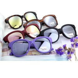 Round Mirror Lenses Plastic Sunglasses