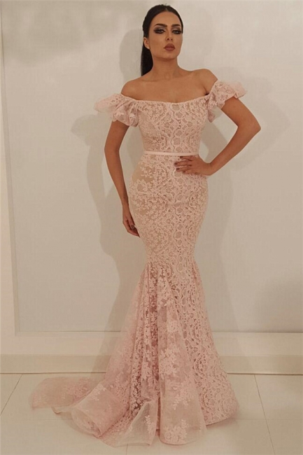 Schöne Abendkleider Lang Rosa | Abiballkleider Spitze