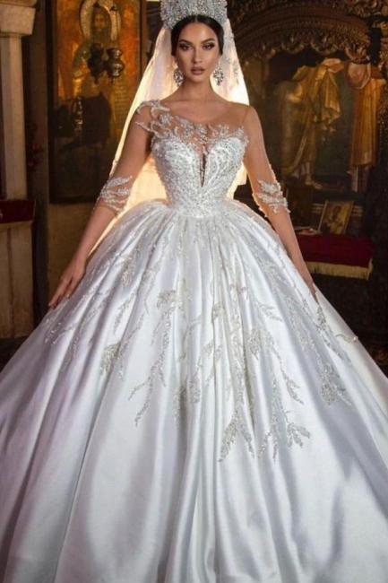 Extravagante Hochzeitskleider Prinzessin | Brautkleider Mit Ärmel