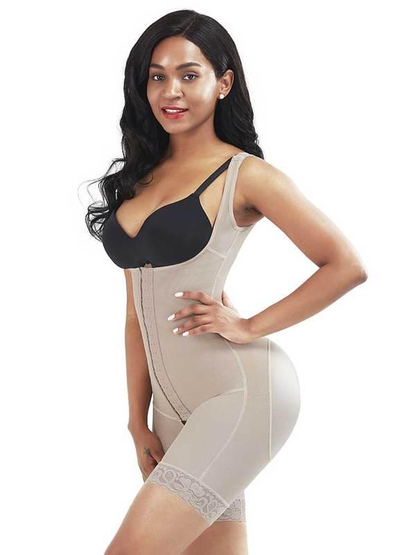 FeelinGirl Full Body Shaper With Hooks   Slimming Bodysuit Shapewear