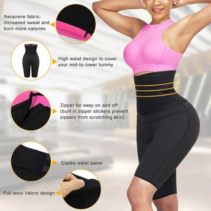 FeelinGirlWomen High Waist Tummy Control Neoprene Slimming Pants