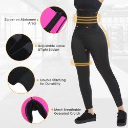 FeelinGirlWomen Neoprene Capri Pants With Adjustable Trimmer Belt