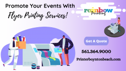 Promote your event with flyer printing!