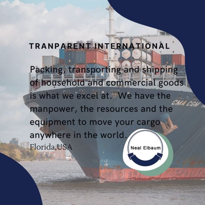 Neal Elbaum- Transparent International- Shipping Professional