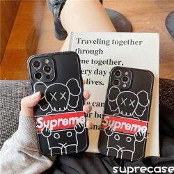 シュプリーム カウズコラボ iPhone12pro maxケース Supreme KAWS iphone12/12proカバー 男女兼用