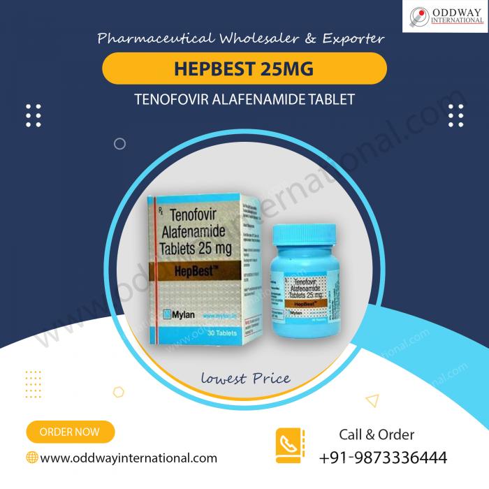 Order Online HepBest 25mg Tenofovir Alafenamide Tablet