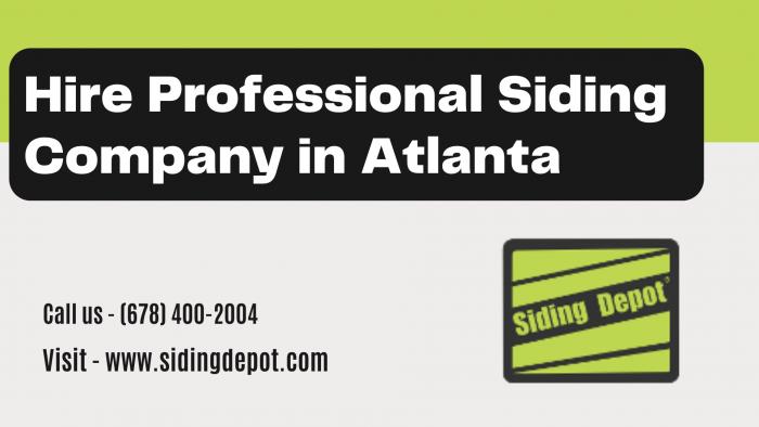 Hire Professional Siding Company in Atlanta