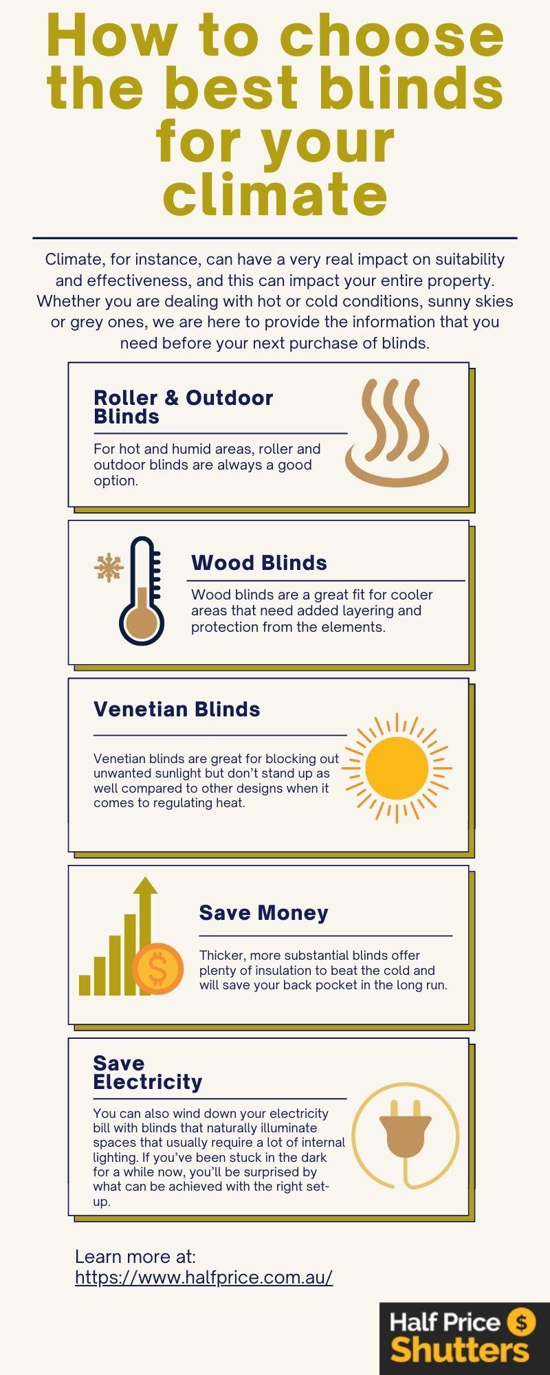 How to choose the best blinds for your climate