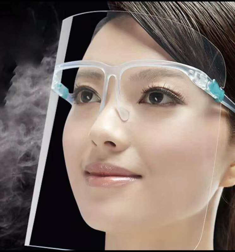 Full Face Protection Anti-fog Face Shield with Glassses
