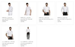 Men's Linen White Shirts | Ramraj Cotton