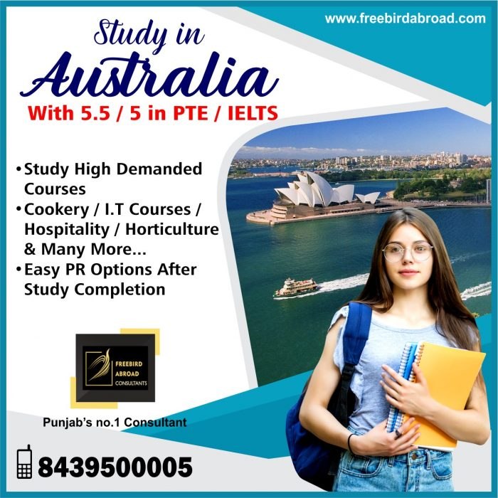 Apply For Australia Study Visa With IELTS / PTE 5.5/5 Bands