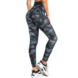 Junlan Women Camouflage Hi-Waist Yoga Pants
