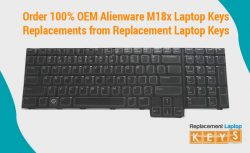 Order 100% OEM Alienware M18x Laptop Keys Replacements from Replacement Laptop Keys