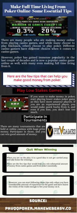 Enjoy Everything At Pkv poker online