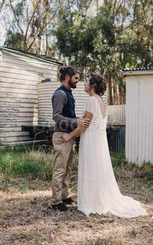 Robe de mariée facile informel romantique en plage lache – GoodRobe