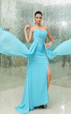Robe de soirée moderne avec chiffon avec cristal de col en cœur – GoodRobe