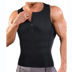 Junlan Men Half Zipper Workout Sweat Vest