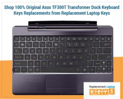 Shop 100% Original Asus TF300T Transformer Dock Keyboard Keys Replacements from Replacement Lapt ...