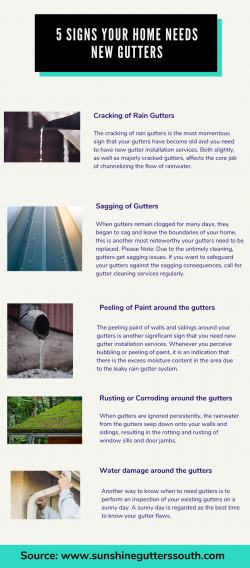 5 Signs Your Home Needs New Gutters