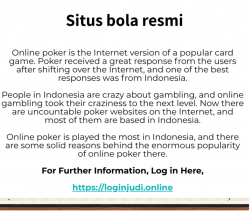 Best online gambling experience in Indonesia