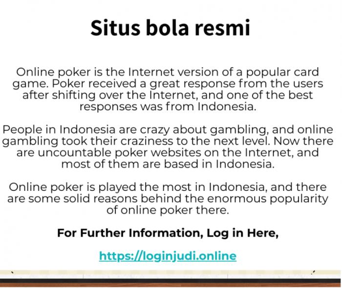 Best online gambling experience in Indonesia