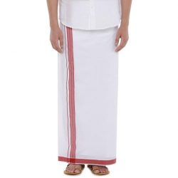 POUND FANCY DHOTI – MAROON