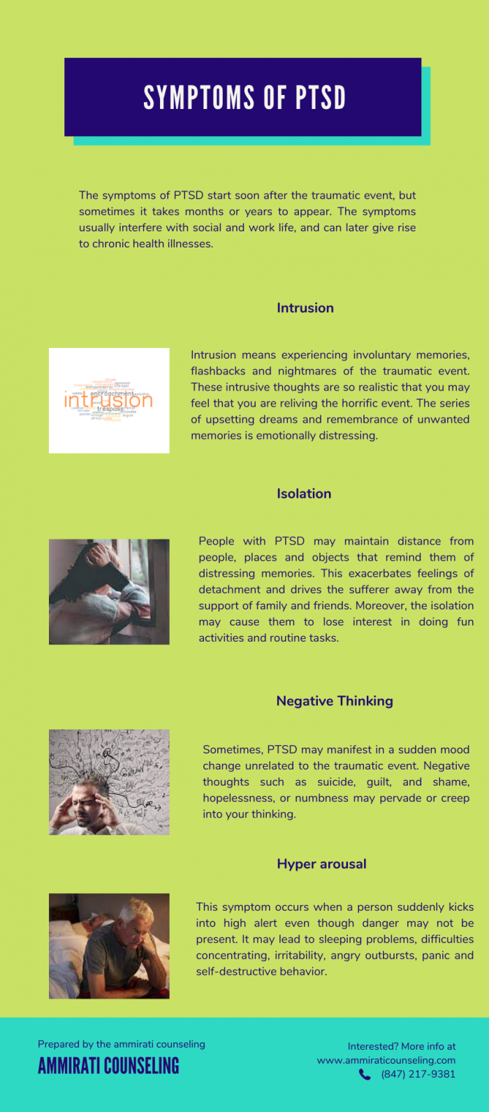Symptoms Of PTSD – Ammirati Counseling