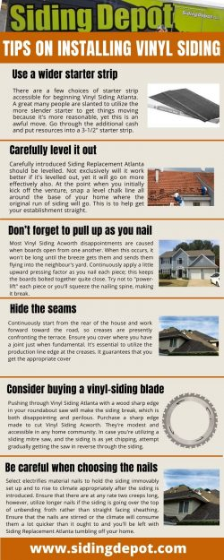 Tips on installing Vinyl Siding Acworth