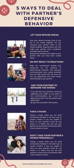 5 Ways To Deal With Partner's Defensive Behavior