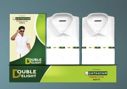 Double Delight White Shirts – 2 Pcs Per Pack